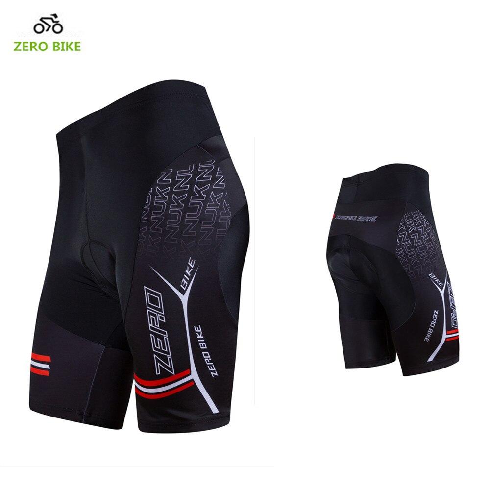 ZERO BIKE Hot Sale pantalones cortos de Ciclismo de secado rápido para hombre bicicleta de montaña 3D GEL acolchado pantalones cortos ajustados negro M-XXL