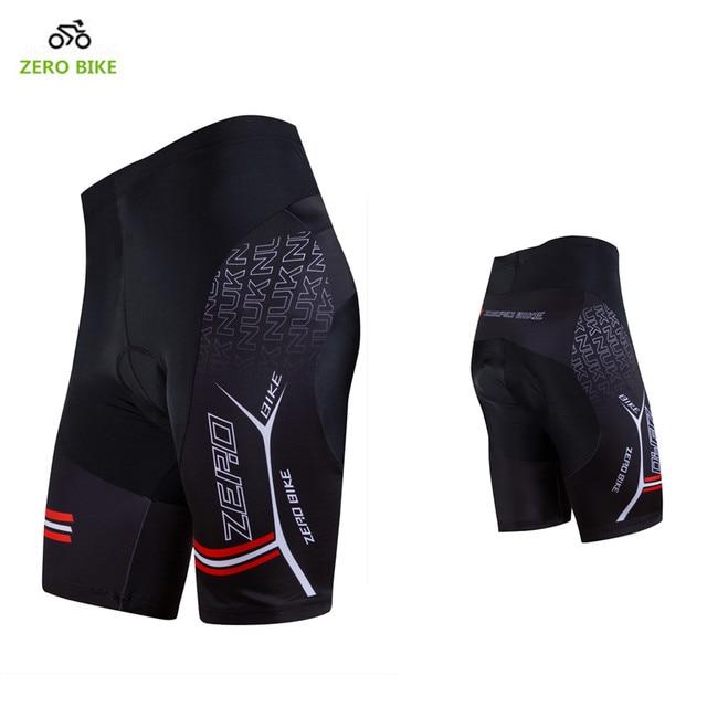 ZERO จักรยาน HOT SALE Mens Quick DRY กางเกงขาสั้นจักรยานเสือภูเขาจักรยาน 3D เจลเบาะกางเกงขาสั้นสีดำ M XXL