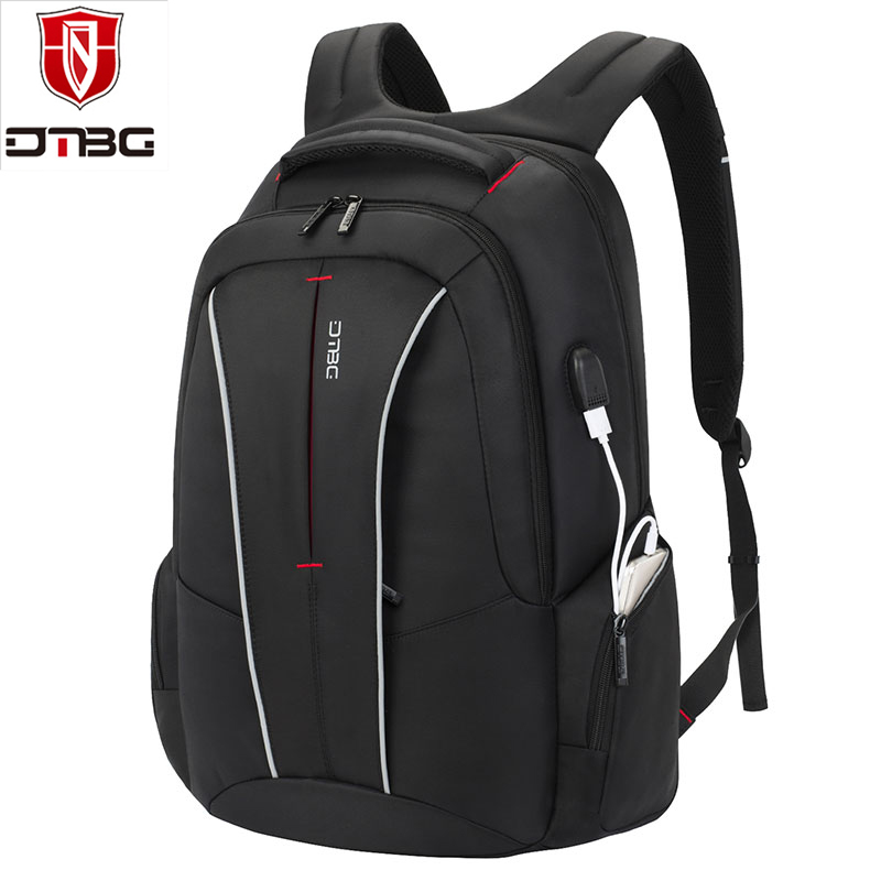 2018 DTBG Brand Laptop Backpack 17.3 Inch with USB Charging Port Anti-theft Pockets Stylish Travel Computer Bag Backpack dtbg canvas backpack for 17 3 inch laptop smart travel rucksack with usb charging port anti theft plecak bagpack mochilas sac page 5