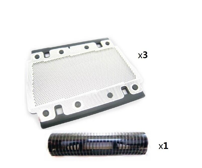 3x628 Razor Foil +1x Cutter For BRAUN 628 3000 3305 3310 3315 3600 3610 3612 3733 3734 5635 3773 Shaver Blade Mesh Net