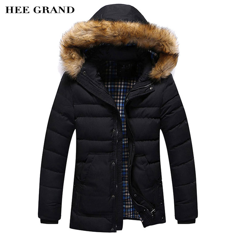 ФОТО Men's Thick Long Stretch Warm Padded 2017 New Arrival Winter Overcoat With Hat Detachable Fashion Style Plus Size MWM1321