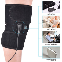 Sport Cotton Heated Knee Pad Braces Leg Supports Thermal Breathable Electric Heating Pad Therapeutic Arthritis Pain Relief