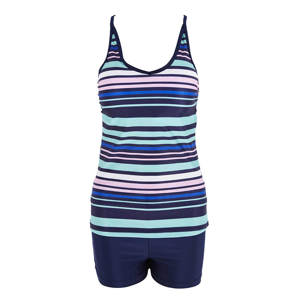 Tankini 2018 Dua Sepotong Plus Ukuran Baju Renang Wanita dengan Celana Pendek Tinggi Pinggang Baju Renang Wanita Baju Renang Mayo Pantai Bak Mandi Maios