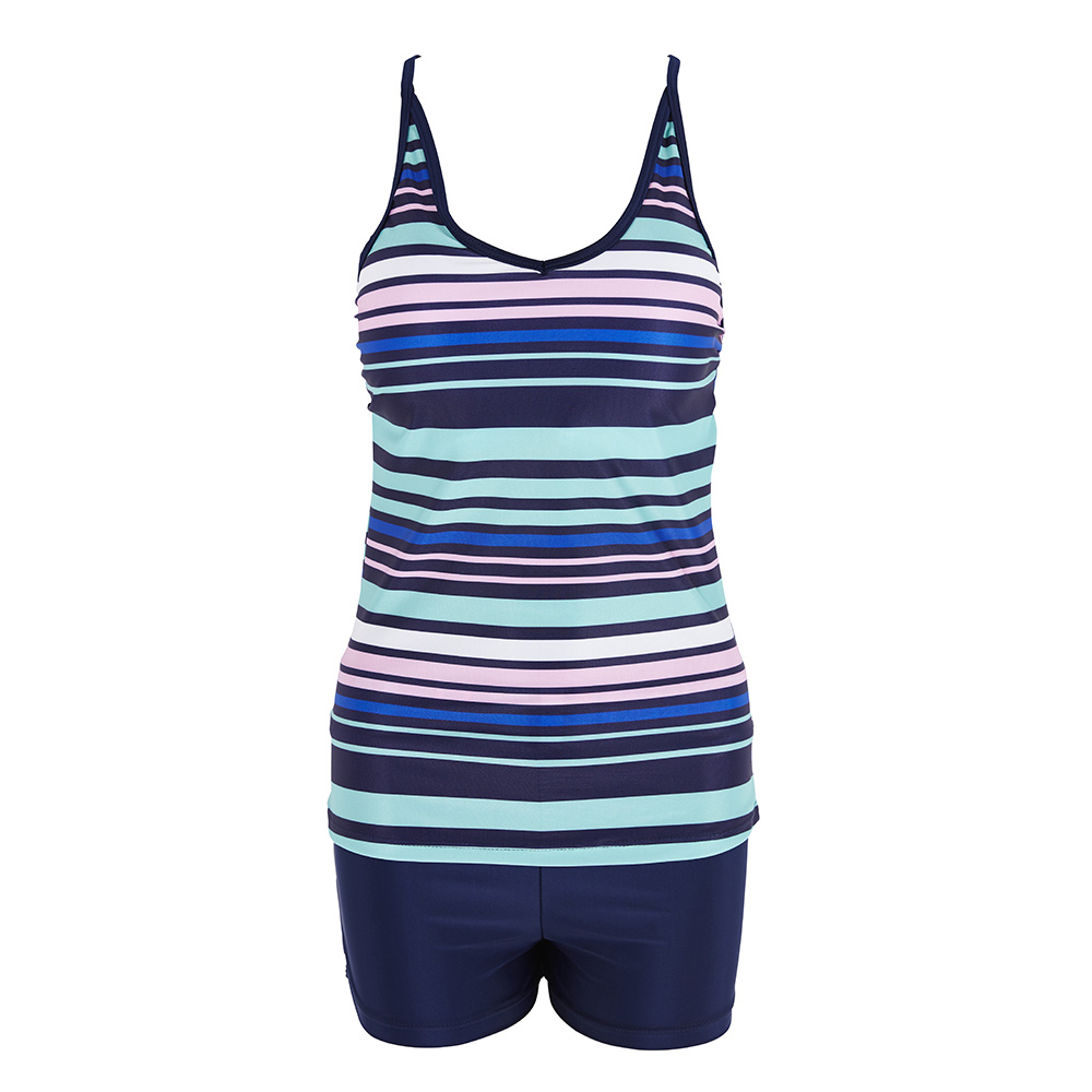 9085440fc51f6 Tankini 2018 Two Piece Plus Size Swimsuit Women With Shorts High waist  Swimwear Female Bathing Suit Mayo Beach Bathers Maios-in Body Suits from  Sports ...