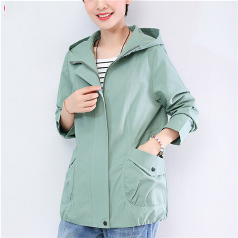2019 New Middle-aged mother Loose Spring Autumn Coats Korean Short Jacket Female Large Size Women's Jacket wind Clothes X309
