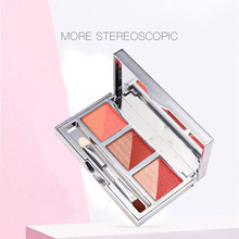 цена Explosion models hot six-color eyeshadow plate girls pearlescent waterproof diamonds shine eye shadow онлайн в 2017 году