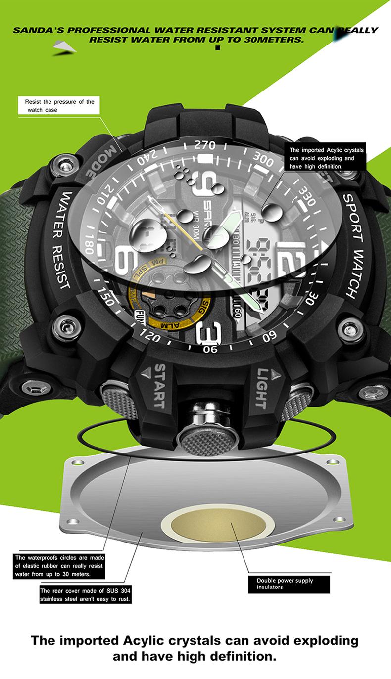 HTB1VNZYQFXXXXatXVXXq6xXFXXXa - 2017 SANDA Dual Display Watch Men G Style Waterproof LED Sports Military Watches Shock Men's Analog Quartz Digital Wristwatches