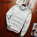 2016 Calidad Casual Sweater Hombres Jerseys Marca invierno Tejer Suéteres Tejidos de Punto de manga larga con cuello en v hombres suéter de la Navidad