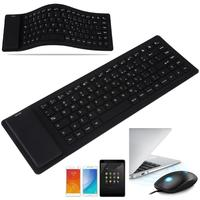 Portable Wireless Keyboard With Bluetooth Soft Silicone Folding Gaming Keyboard 88 Keys Silent Bluetooth For Gamer