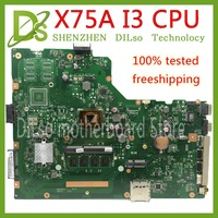 KEFU X75A Per ASUS X75A X75V X75VD X75VB X75VC mainboard del computer portatile I3 cpu 4G di RAM REV2.0 GM lavoro di Test 100%