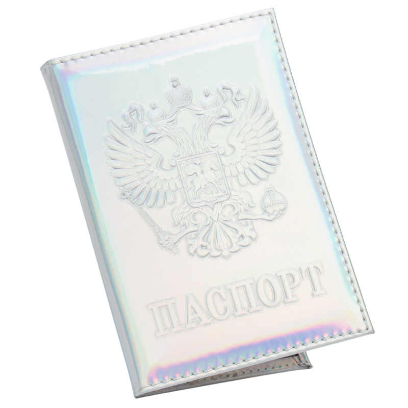Russian Mirror soft green fashion International standard size passport cover waterproof solid pu leather Suitable for everyone