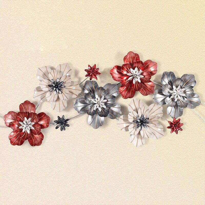 Роскошные железные муоны Винтаж цветок стены дома гостиная спальня ТВ задний план мягкие украшения