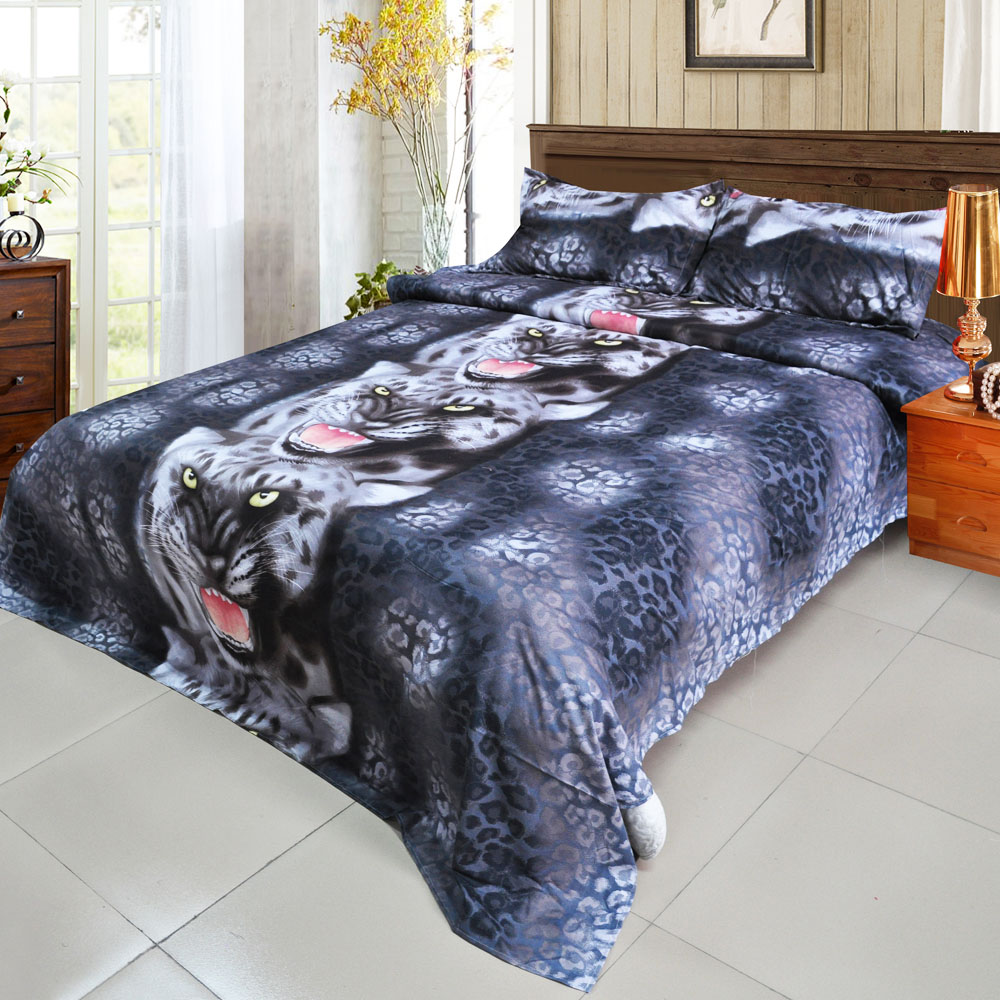 Black and blue bed sheets - 4pcs 3d Printed Bedding Set Bedclothes Black Tiger Queen King Twin Size Bedclothes Duvet