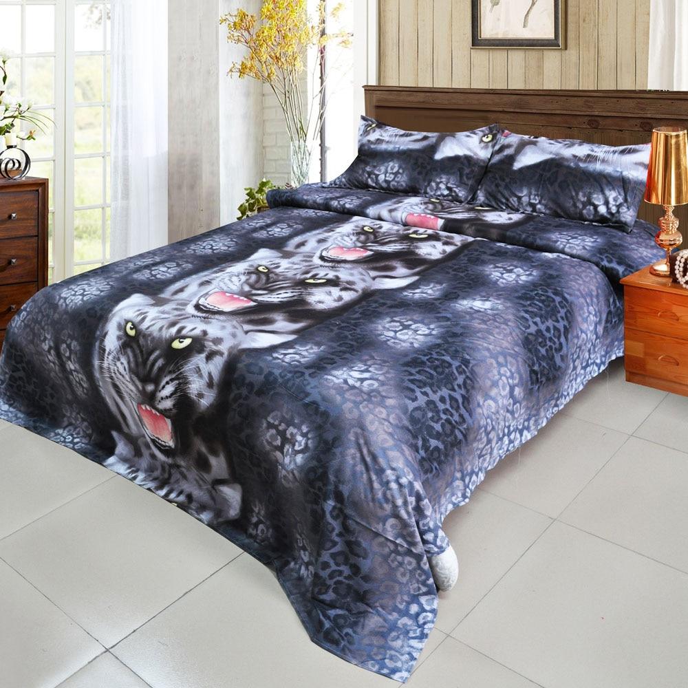 Black and blue bed sheets - 4pcs 3d Printed Bedding Set Bedclothes Black Tiger Queen King Twin Size Bedclothes Duvet