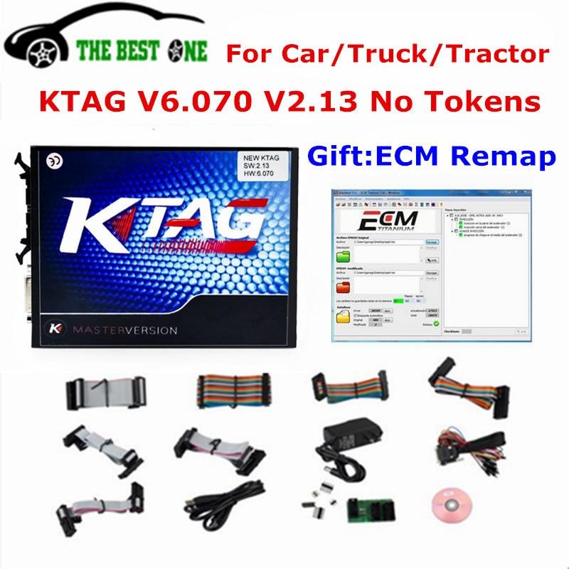 Цена за 2017 лучшие pcb с Murata fliters KTAG V6.070 V2.13 новые ECM V261 как подарок K-TAG мастер ECU Инструмент K тег 2.13 6.070