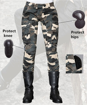 Free Shipping 2018 Uglybros light camouflage leisure riding pants motorcycle knees protection jeans motocross motorcycle pants