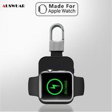 Cargador inalámbrico para iWatch 1, 2, 3, 4, 5, 6, Mini batería externa portátil, llavero para Apple Watch, cargador inalámbrico