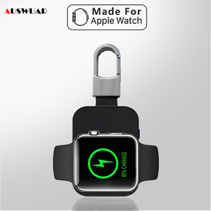 Image 1 - Caricabatterie Wireless Power Bank per iWatch 1 2 3 4 5 6 portachiavi Mini batteria esterna portatile per caricabatterie Wireless Apple Watch