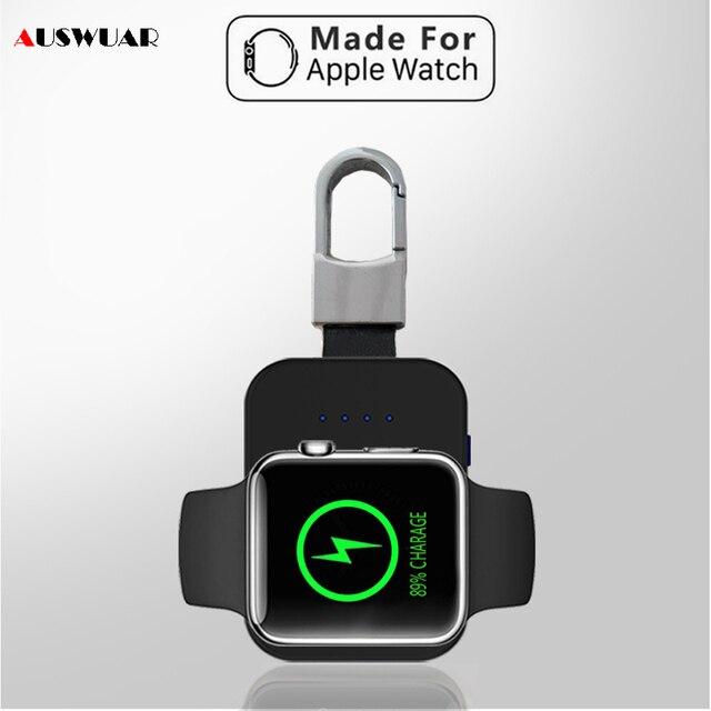 Caricabatterie Wireless Power Bank per iWatch 1 2 3 4 5 6 portachiavi Mini batteria esterna portatile per caricabatterie Wireless Apple Watch