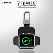 Carregador sem fio power bank para iwatch 1 2 3 4 5 6 portátil mini pacote de bateria externa chaveiro para apple relógio sem fio carregador