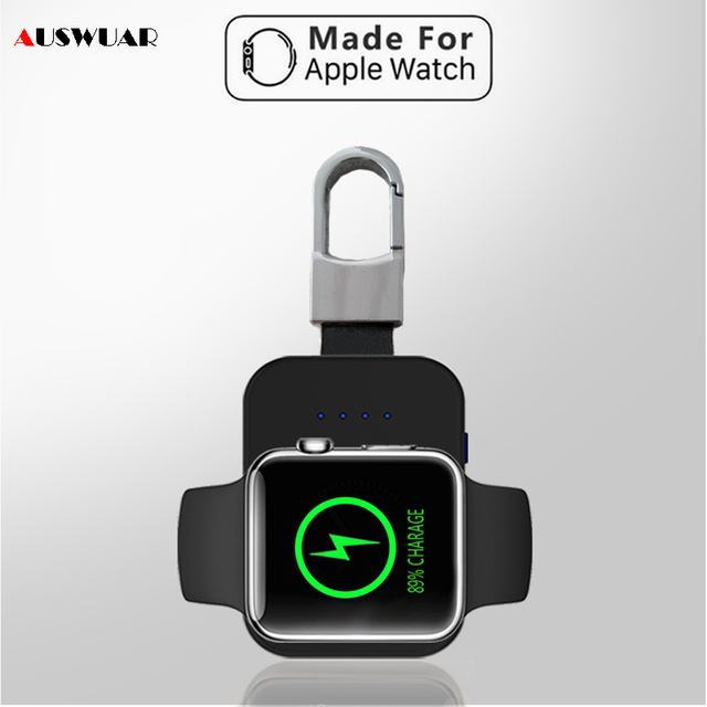 QI Беспроводное зарядное устройство power Bank для iWatch 1 2 3 4 Портативный внешний мини-аккумулятор пакет брелок для Apple Watch Беспроводное зарядное устройство