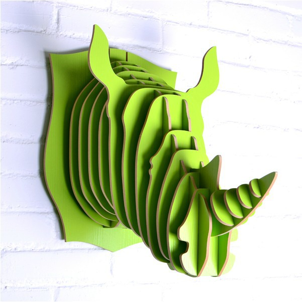 Creative rhino head hanging,cute fruit green home ornament,European Nodic pastoral home decoration,idyllic rustic free shipping