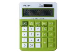 Deli 1546A calculator lovely color computer tracking card-bit display office supplies