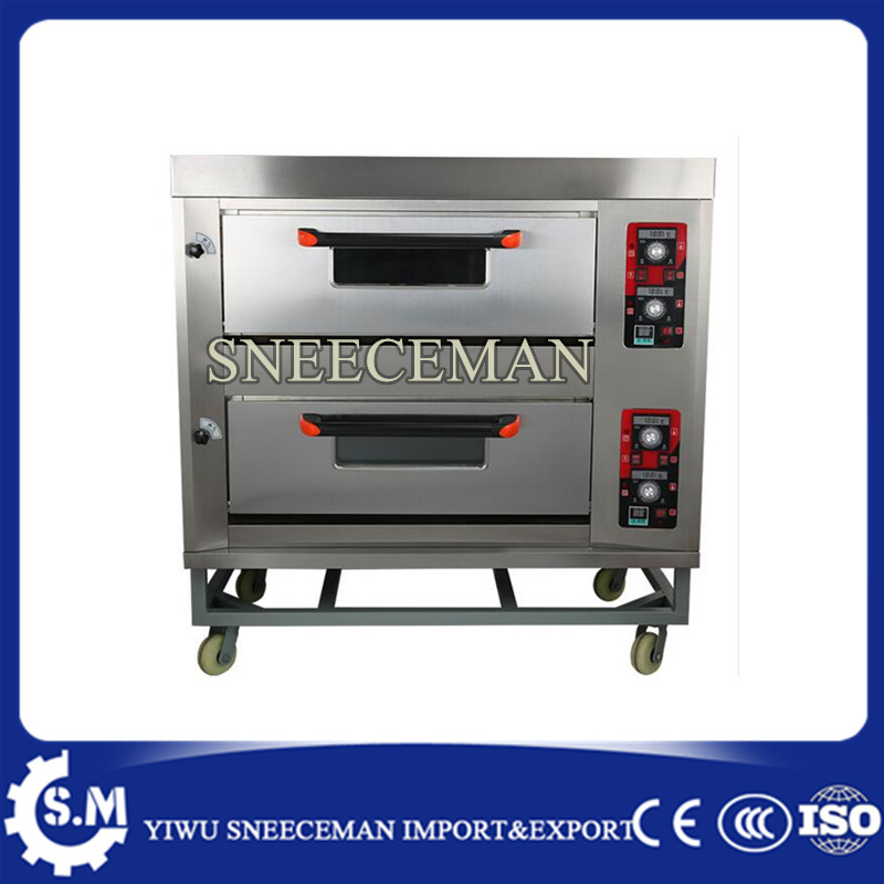 2layers 4pans Gas Bread Baking Oven Rotary Bakery Oven