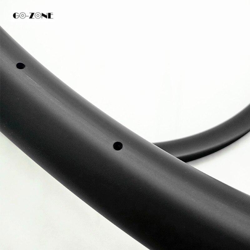 Top Go-zone 27.5 er mountain bike rim 37x24mm XC/AM tubeless matte/glossy 650B mtb dics brake carbon rim 24H 28H 32H 36H 2
