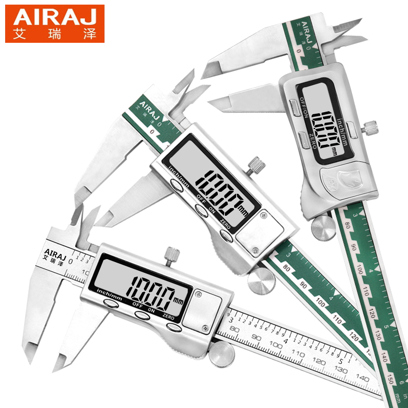 AIRAJ 6inch/150mm Waterproof Digital Electronic Caliper Stainless Steel Micrometer Measuring Tools Gauge Ruler 2pcs dual side stainless steel measuring straight ruler 300mm 12 inch