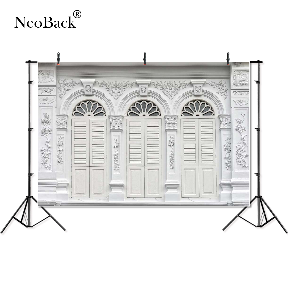 NeoBack 5x3ft Photography backdrop Beige Brick Gate Door Photo Backdrop for children photocall For Photo Studio B4055