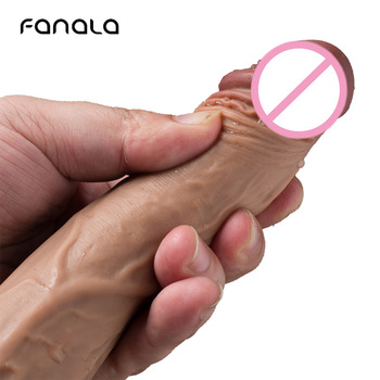 FanaLa 8.27 Inch Huge Natural Flesh Dildo for Women Sex Toys G-spot Non Vibrator Dildos Realistic with Suction Cup Lesbian Penis 9 inch huge extra large flesh dong dildo unisex sex toy