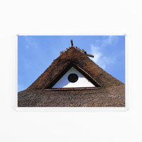 High Quality Acrylic Frige Magnet Traditional House Roof Design Of Japan Japanese Souvenir