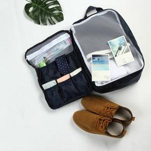 Image 4 - Saco de viagem dobrável mochila feminina à prova dwaterproof água saco de bagagem portátil oxford grande capacidade bolsa