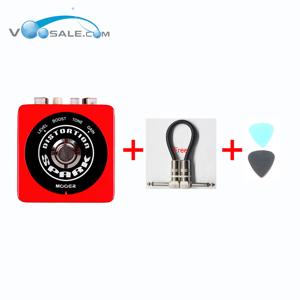 MOOER Spark Distortion Guitar Effect Pedal British Classic High-Gain Tube Distortion Ture Bypass Guitar Accessories + Free Cable new effect pedal mooer solo distortion pedal full metal shell true bypass