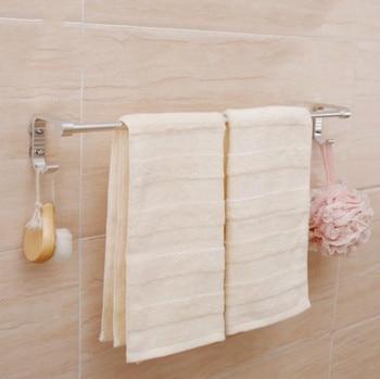65 cm ventosa sola toalla toallero aluminio toallero con oxidación terminado baño accesorios de almacenamiento badkamer accesoires porta asciugamani toallero baño toallero adhesivo