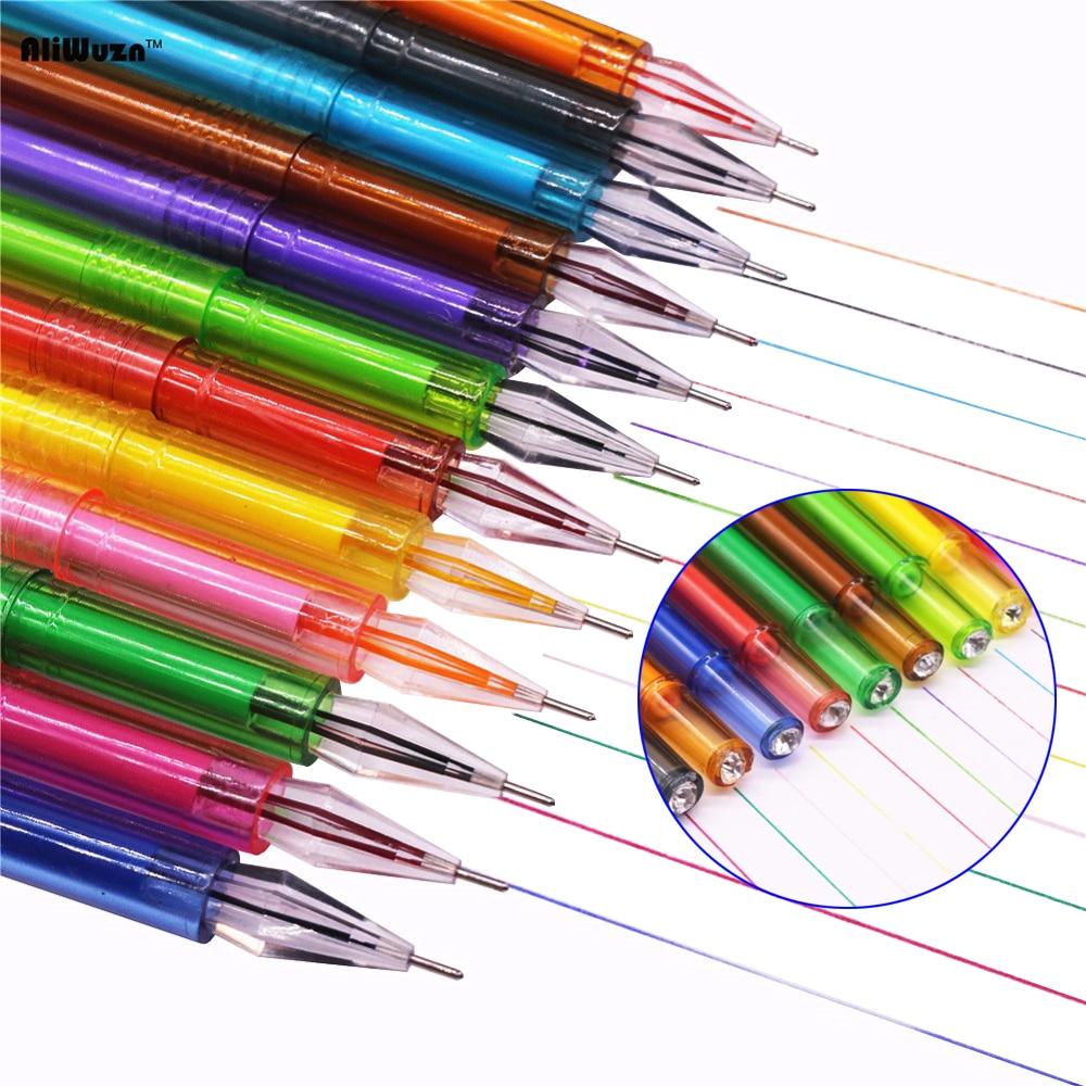 Wholesale Office Stationery Color 12pcs 12 Exquisite Color Diamond Gel Pen Student Stationery Lovely Color Pen 12 Color Suit