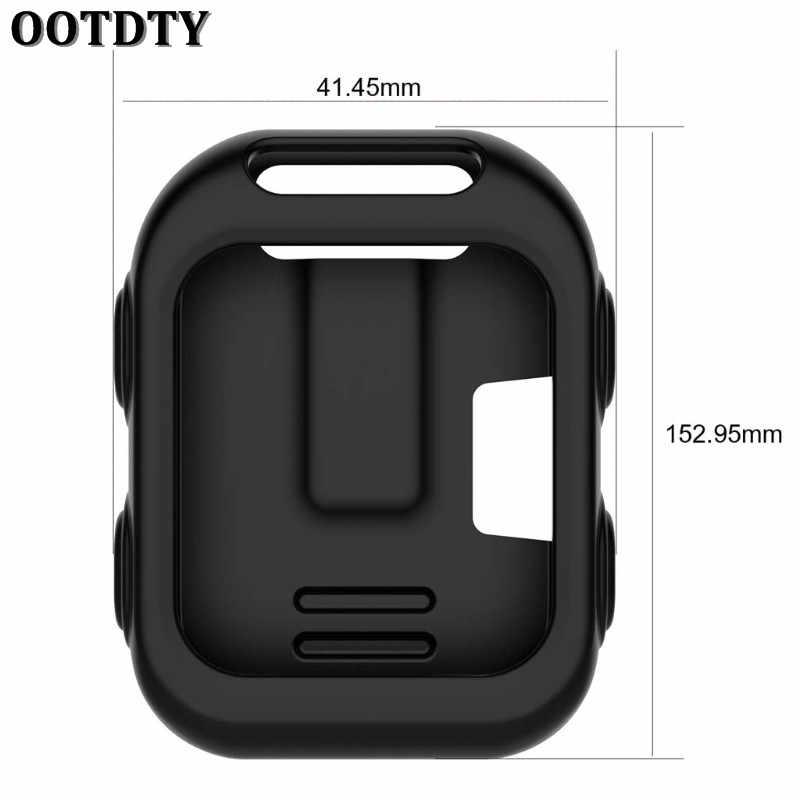 Ootdtyプロテクターシリコンケースカバー用ガーミンアプローチg10ゴルフgps 7色スマート腕時計ソフトラバー保護スキンケース