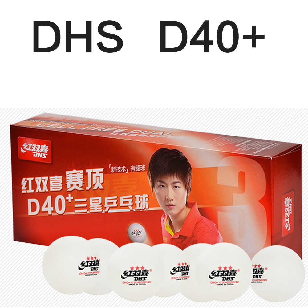 NEW DHS D40+ Tournament 3 Star D40+ New Material  Seamed PP Ball Table Tennis ball / ping pong ball  10pcs/pack