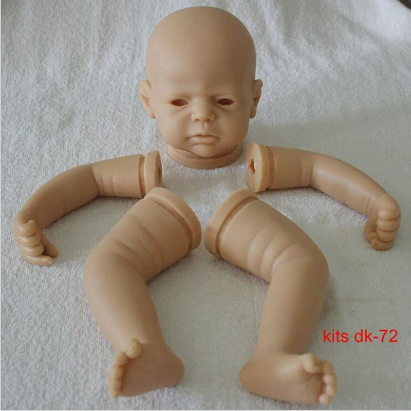 Reborn Doll Kits for 22inches Soft Vinyl Reborn Baby Dolls Accessories for DIY Realistic Toys for DIY Reborn Dolls Kits dk-72 doll kits for 65cm lifelike soft vinyl reborn dolls parts baby alive accessories for diy realist reborn toddler doll kit