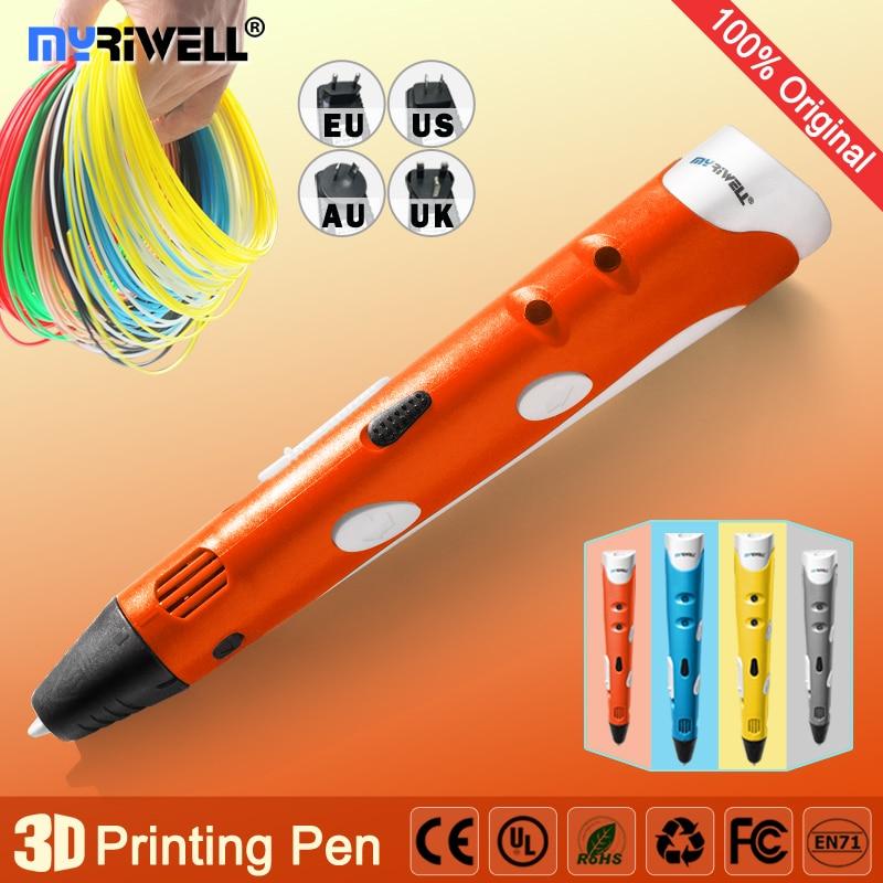myriwell 3d pen 3d pens,1.75mm ABS/PLA Filament, 3d model,Creative 3d printer pen-3d magic pen,Best Gift for Kids,pen 3 d 3d очки oem anagphic 3d 3d 3d 183 d