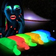 Флуоресцентная художественная краской роспись расти пигмент краска flash лицо акриловые световой