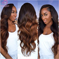 6A Ombre Body Wave Brazilian Virgin Hair With Closure 1B#4#30/27 Blonde Ombre Wave Human Hair Bundles With Lace frontal Closure