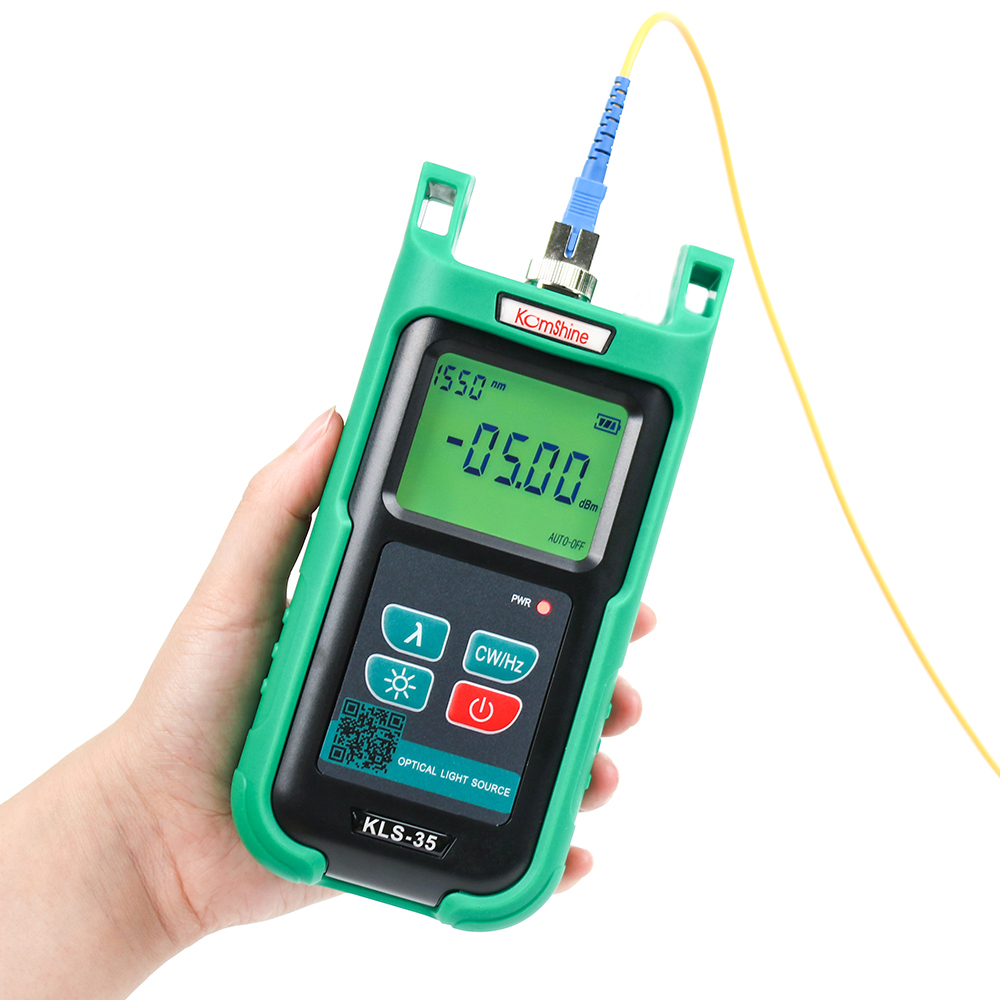 Optic fiber light source KLS-35-M FTTx hand-held type fiber cable test tools 850/1300nm MM Laser SourceOptic fiber light source KLS-35-M FTTx hand-held type fiber cable test tools 850/1300nm MM Laser Source