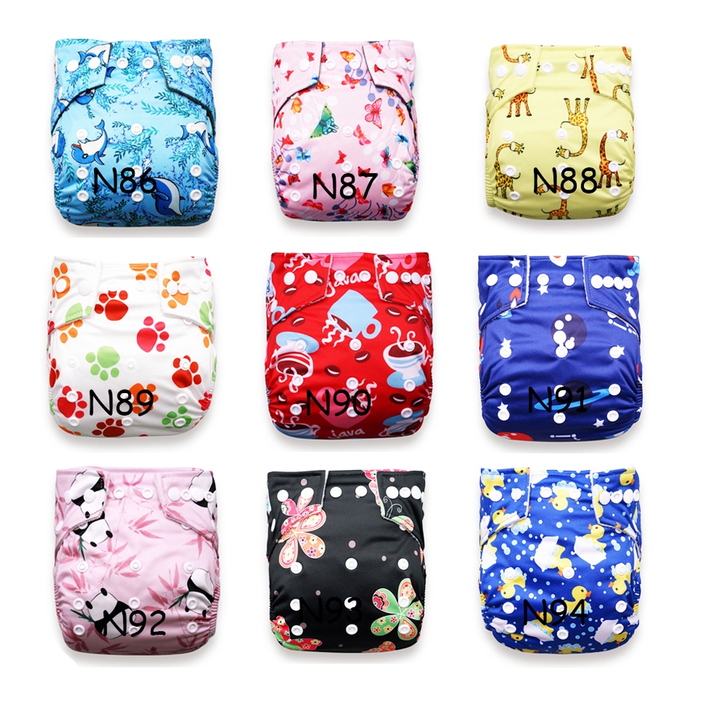 Wholesale Price Baby Nappy 6pcs/Pack Baby Cloth Diapers Microfleece Linning Pocket Diaper Washable Reusable Nappy Newest Prints