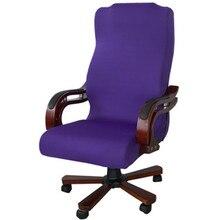 3 размера упругие компьютер Чехлы для стульев лайкра Офис Чехлы для стульев обеденный стул моющиеся Съемный вращающийся Чехлы для стульев