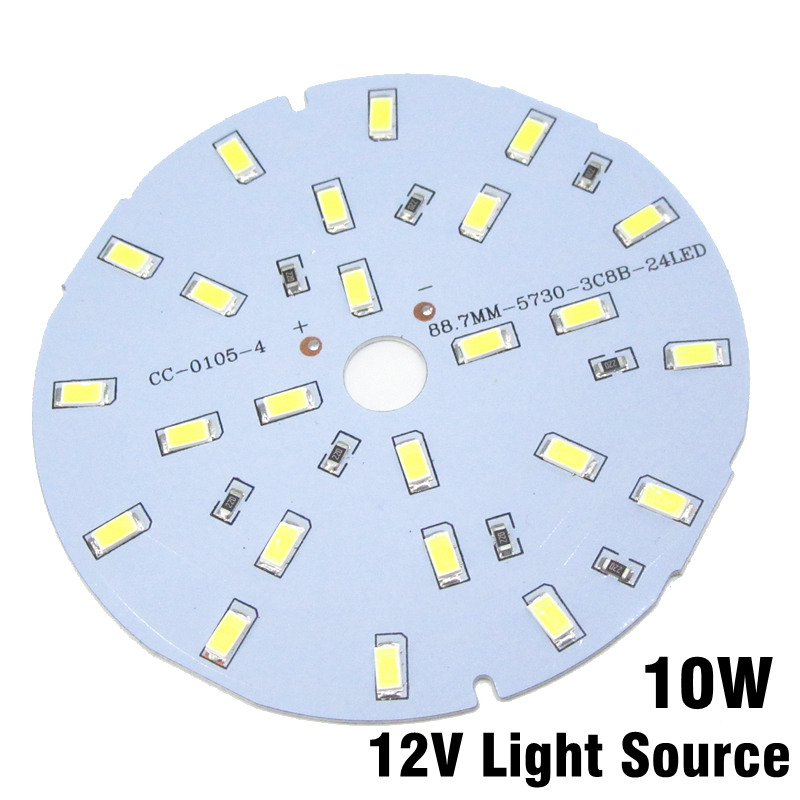 30pcs 10W 12V LED PCB SMD 5730 Lamp Plate Integrated IC DC12V Directly Driverless White Warm