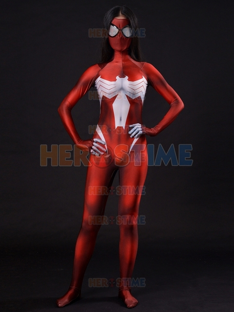 3D Print Ultimate Spider Woman Zentai Costume Spider-Woman Cosplay Costumes Lycra Spandex Spiderman Catsuit & 3D Print Ultimate Spider Woman Zentai Costume Spider Woman Cosplay ...