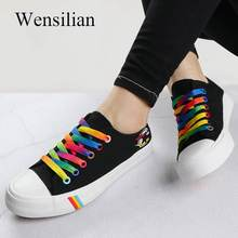 b877eda8c9353 De lona de moda zapatos de Mujer zapatos de encaje zapatos casuales zapatos  de Zapatillas de deporte vulcanizar transpirable .