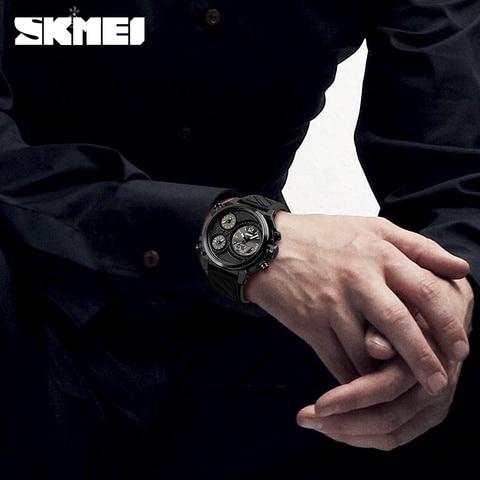SKMEI Brand Sports Watches Mens Top Brand Luxury Waterproof Men Wrist Watch 5 Time Alarm Chronograph Military Wristwatches Clock Karachi
